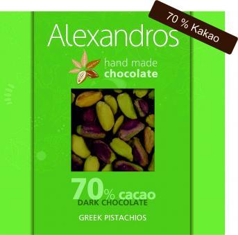 Chocolate Dark Greek Pistachios 90 gr. Tafel