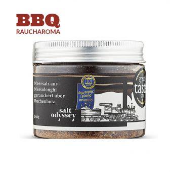 Meersalz aus Messolonghi geräuchert über Buchenholz 150gr. Dose