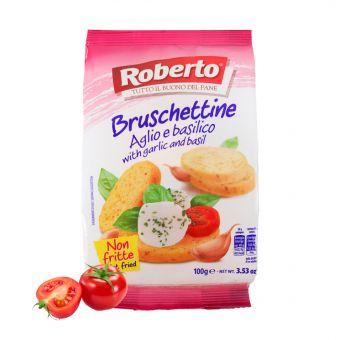 Bruschettine Pomodoro e basilico 100 gr. Packung