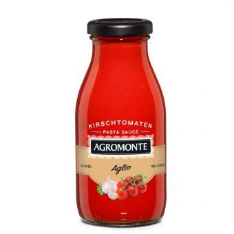 Putanesca Sauce mit Kirschtomaten, Sugo alla puttanesca di pomodoro cilegino, olive verdi e capperi 260 ml Flasche