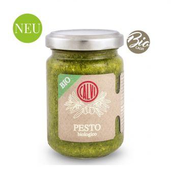 Bio Pesto mit Basilikum und Pinienkernen 135g
