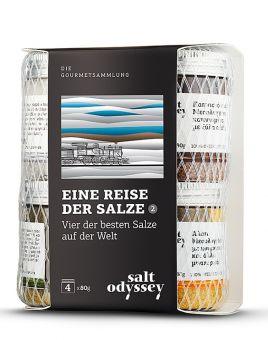 Auswahl von vier der besten Salze der Welt in einer Verpackung 4 x 80 gr.