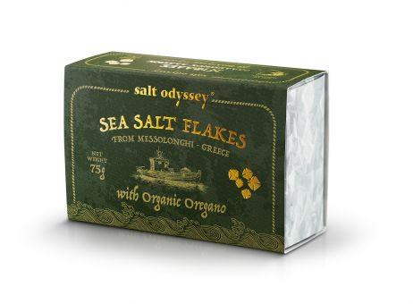 Sea SALT FLAKES mit BIO Oregano 75 g. Schachtel