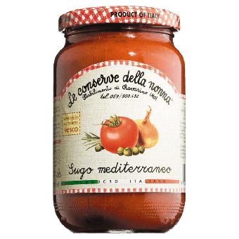Gemüsesauce, Sugo mediterraneo, Tomatensauce 370 ml Glas