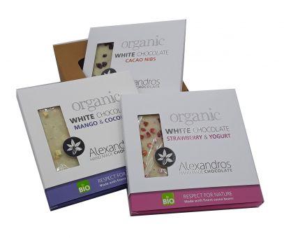 3er Schokoladenbox Alexandros Weiße köstliche Organic
